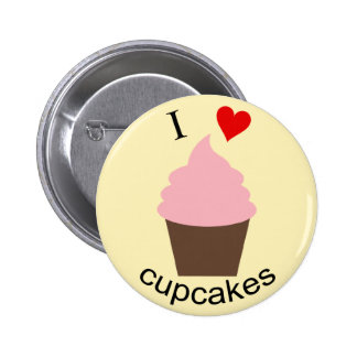 I love cupcakes Pin button