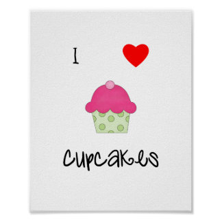 I love cupcakes print