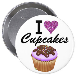 I Love Cupcakes - SRF Buttons