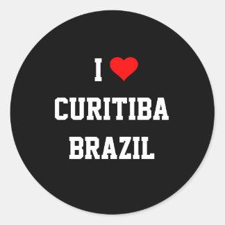 I Love Curitiba, Brazil Round Sticker