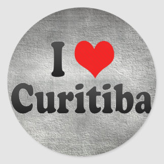 I Love Curitiba, Brazil Sticker