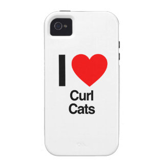 i love curl cats iPhone 4 covers
