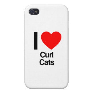 i love curl cats iPhone 4/4S covers