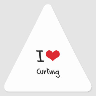 I love Curling Triangle Sticker