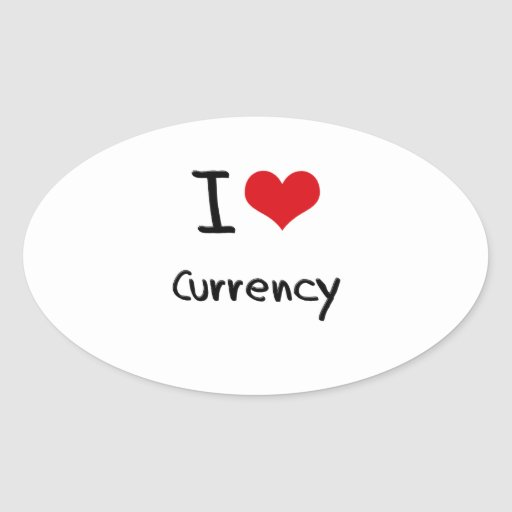 I love Currency Sticker