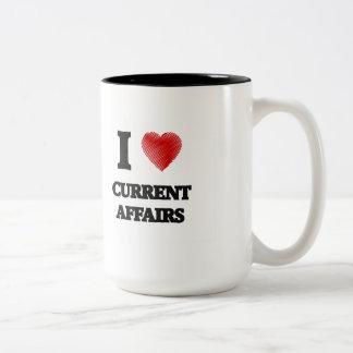 I love Current Affairs Two-Tone Mug