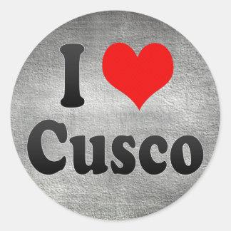 I Love Cusco, Peru Classic Round Sticker