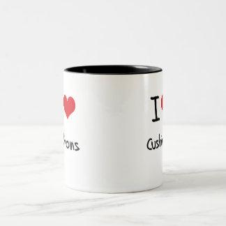 I love Cushions Two-Tone Coffee Mug