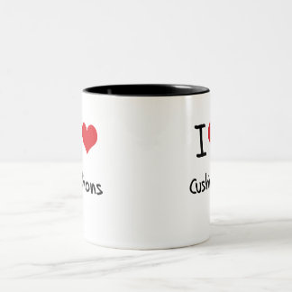 I love Cushions Two-Tone Mug