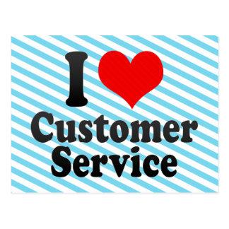 I love Customer Service Postcard