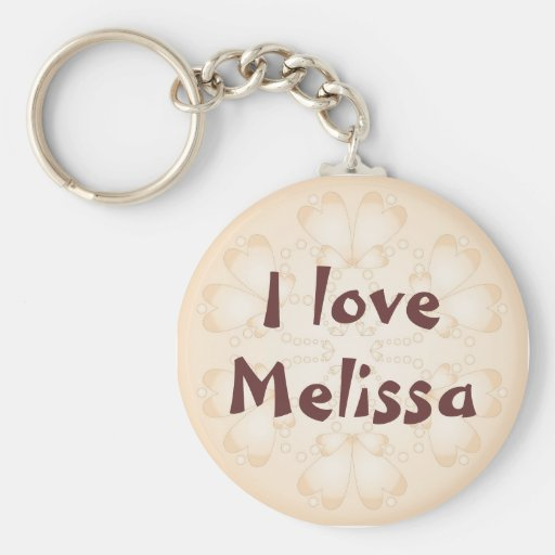 """""""I love"""" - Customize with your name Key Chain"""