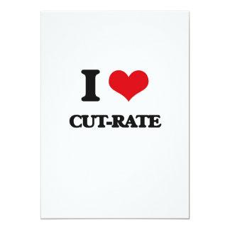 "I love Cut-Rate 5"" X 7"" Invitation Card"