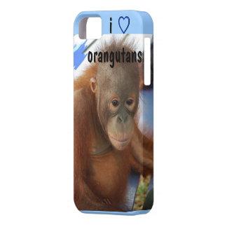 I Love Cute Orangutan Baby iPhone 5 Case