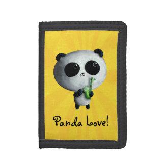 I love Cute Pandas Tri-fold Wallets