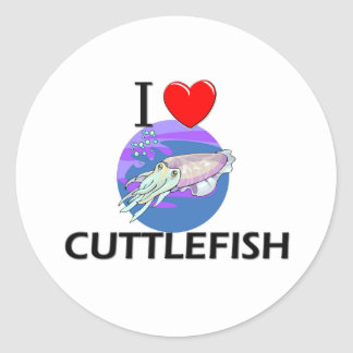 I Love Cuttlefish Classic Round Sticker