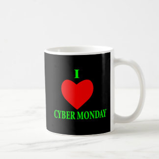 I LOVE CYBER MONDAY BASIC WHITE MUG