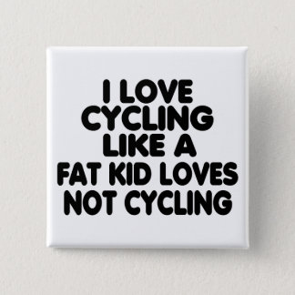 I Love Cycling 15 Cm Square Badge