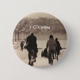 I love cycling badge
