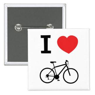 I love Cycling 15 Cm Square Badge