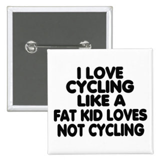 I Love Cycling Pinback Button