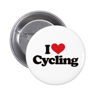I Love Cycling Pinback Buttons