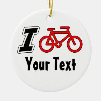 I Love Cycling Blank Christmas Ornament