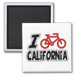 I Love Cycling California Refrigerator Magnets