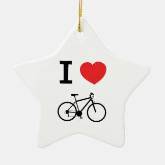 I love Cycling Ceramic Star Decoration