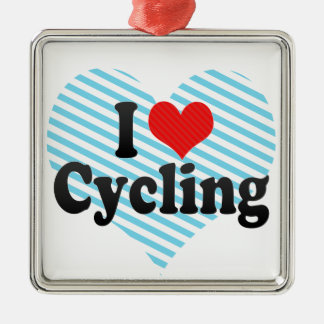 I Love Cycling Christmas Ornament
