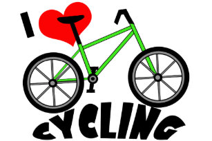 I Love Cycling Stickers Labels Zazzle Uk