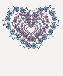 I love cycling heart tee shirt