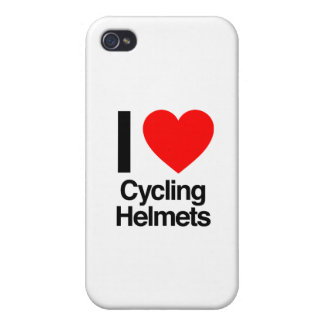 i love cycling helmets iPhone 4 cases