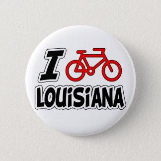 I Love Cycling Louisiana 6 Cm Round Badge