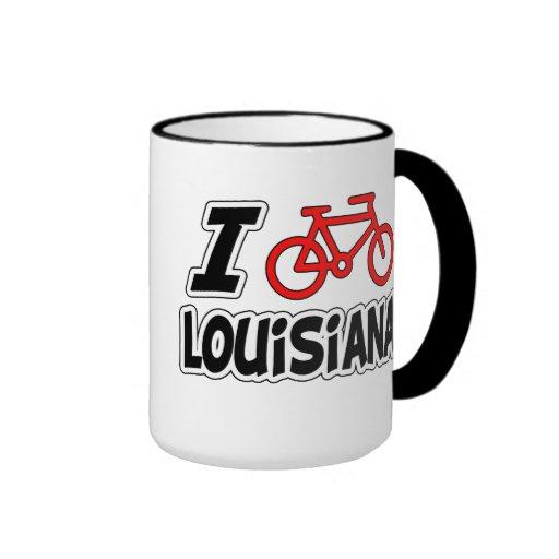 I Love Cycling Louisiana Mugs