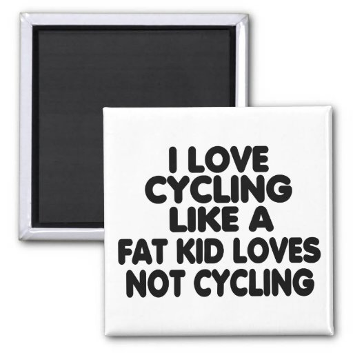 I Love Cycling Refrigerator Magnet