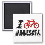 I Love Cycling Minnesota Fridge Magnet