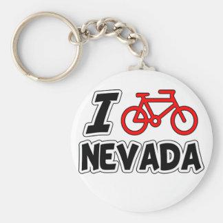 I Love Cycling Nevada Key Ring