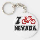 I Love Cycling Nevada Keychains