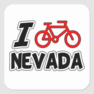 I Love Cycling Nevada Square Sticker