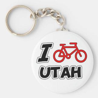 I Love Cycling Utah Key Ring
