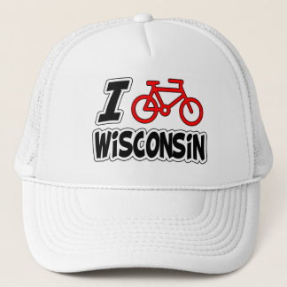 I Love Cycling Wisconsin Trucker Hat