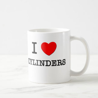 I Love Cylinders Coffee Mugs