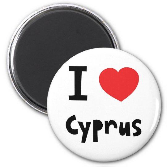 I love Cyprus 6 Cm Round Magnet