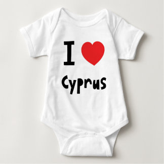 I love Cyprus Baby Bodysuit