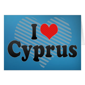 I Love Cyprus Card