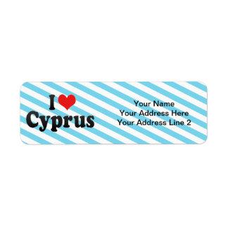I Love Cyprus Return Address Label