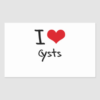 I love Cysts Rectangle Stickers