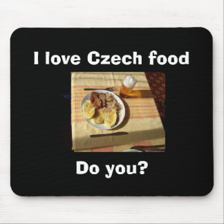 I love Czech food Mouse Mat
