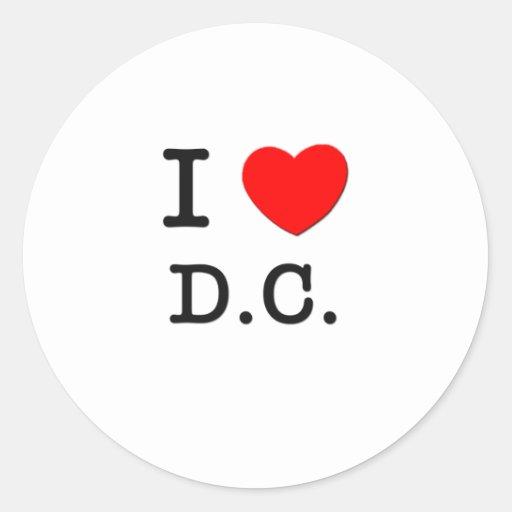 I Love D.C. Round Sticker