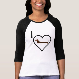 I Love Dachshund Tee Shirt